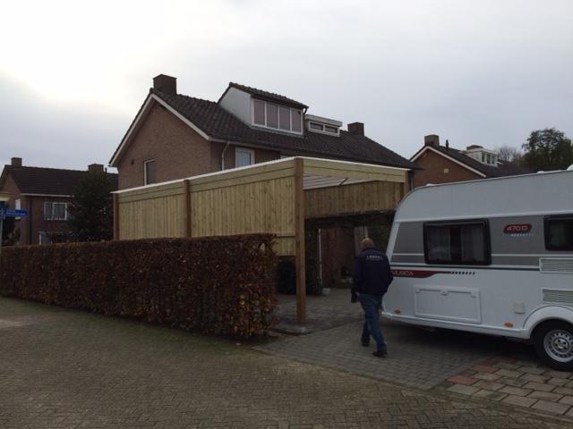 Maatwerk houten carport